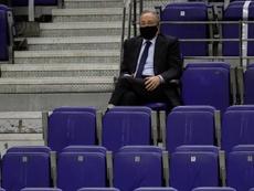 Florentino trató el asunto de la Superliga Europea. EFE