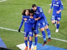 Cucurella hizo el empate para el Getafe. EFE