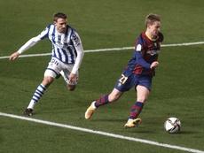 Frenkie de Jong tem se destacado inclusive com gols. EFE/Rafa Alcaide