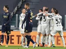 La Juventus file en quart en souffrant contre Genoa. EFE