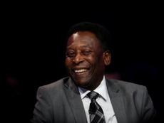 Pelé falou com o time do Santos antes da vitória sobre o Boca. EFE/Fernando Bizerra Jr./Arquivo