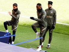 Moussa Dembélé sera la seule recrue de l'Atletico cet hiver. Twitter/Atleti