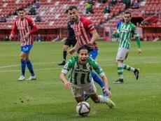 El Sporting jugó Copa ante el Betis. EFE