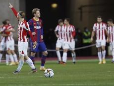 Barcelona parabenizou o título do Bilbao. EFE/Jose Manuel Vidal