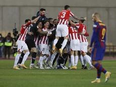 L'Athletic fait tomber le Barça et remporte la Supercoupe. EFE