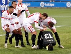 El Sevilla ganó por la mínima en Mendizorroza. EFE