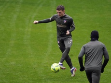 Trippier trained with his teammates despite being banned. AFP