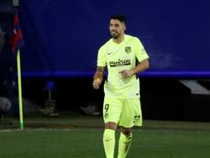 Luis Suárez conquistou o Atleti com gols. EFE