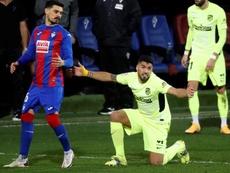 Luis Suárez, a cuatro goles de cobrar más. EFE