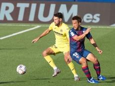 La SD Huesca y el Villarreal, cara a cara. EFE