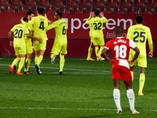 El Villarreal sufrió y ganó por la mínima al Girona. EFE