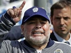 Maradona habló de su futuro en Gimnasia. AFP