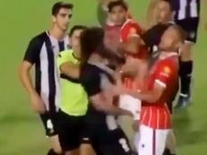Perdió los papeles y agredió a tres rivales. Captura/ClubAtléticoSanJorge