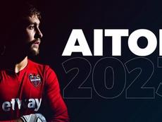 Aitor renovó hasta 2023. Twitter/LevanteUD