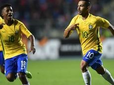 Alan de Souza celebrates giving his side the lead. Twitter