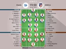 Alavés - Atlético de Madrid válido pela décima primeira rodada do campeonato espanhol 2019-20. BeSoc