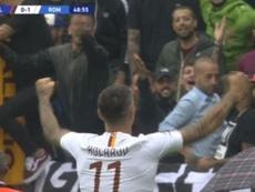 Kolarov anotó su tercer gol, otra vez de bella factura. Captura/#Vamos