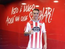 Álex López está encantado de haber fichado por el Lugo. Twitter/CDeportivoLugo