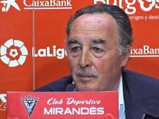 Aldredo de Miguel lamentó la postura de LaLiga. CDMirandés