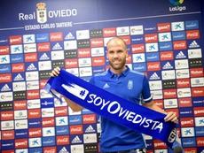 Alfredo Ortuño saca el lado positivo. Twitter/RealOviedo