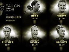 Ya tenemos las nominadas al Balón de Oro Femenino. FranceFootball