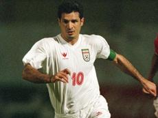 Ali Daei deixou a seleção do Irã com 109 gols marcados. Iransportspress