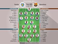 De Jong y Carles Pérez vuelven ante el Getafe. EFE/Toni Abir