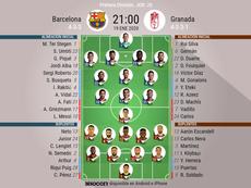 Primer once de Setién en el Barcelona. BeSoccer