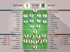 Onces confirmados del Oviedo-Alcorcón. BeSoccer