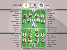 Alineaciones del Oviedo-Lugo. BeSoccer