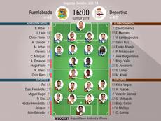 Onces del Fuenlabrada-Deportivo. BeSoccer