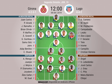 Onces del Girona-Lugo. BeSoccer