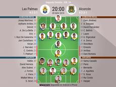 Onces del Las Palmas-Alcorcón. BeSoccer