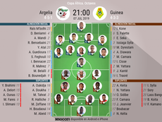 Onces confirmados del Argelia-Guinea. BeSoccer
