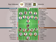 Once del Rayo-Alcorcón. BeSoccer