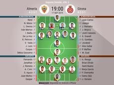 Alineaciones confirmadas en el Almería-Girona. BeSoccer