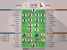 Onces del Senegal-Benín. BeSoccer