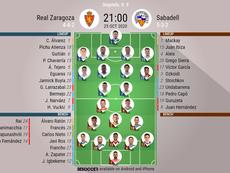 Sigue el directo del Real Zaragoza-Sabadell. BeSoccer