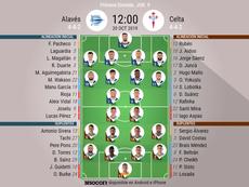 Alineaciones confirmadas para el Alavés-Celta. BeSoccer