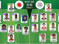 Colombia y Paraguay se juegan su clasificación al Mundial. BeSoccer