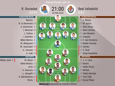 Alineaciones confirmadas para el Real Sociedad-Valladolid. BeSoccer