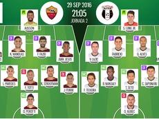 Alineaciones de Roma y Astra en Jornada 2 de Europa League 16-17. BeSoccer