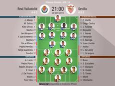 Alineaciones oficiales de Valladolid y Sevilla. BeSoccer