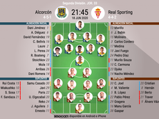 Onces del Alcorcón-Sporting. BeSoccer