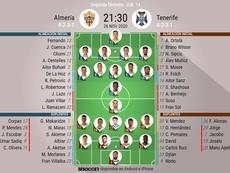 Sigue el directo del Almería-Tenerife. BeSoccer