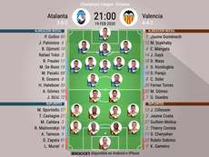 Los onces de Atalanta-Valencia. BeSoccer