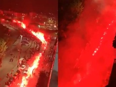 San Paolo da brividi prima della gara. ESPN