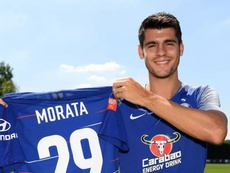 Morata chose number 29 in honour of his two newborn sons. ChelseaFC