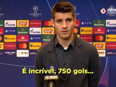 Morata hallucine face aux 750 buts de Cristiano Ronaldo. Captura/EsporteInterativo