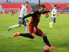 Álvaro Rey ha criticado la abundancia de penaltis en contra del Mirandés. Twitter/CDMirandés